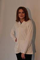 Женская спортивная толстовка Osztaly (T-60 W) белая флиз код 789А
