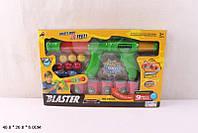 Оружие игрушечное, стреляет шарами, мишени в виде пороллоновых бочек, 8900A