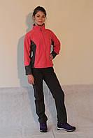 Женская спортивная толстовка Jack wolfskin 280 кораллово-серая код 2037А
