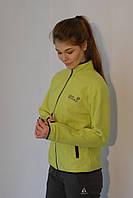 Женская спортивная толстовка Jack Wolfskin 179 зелёная код 2040А