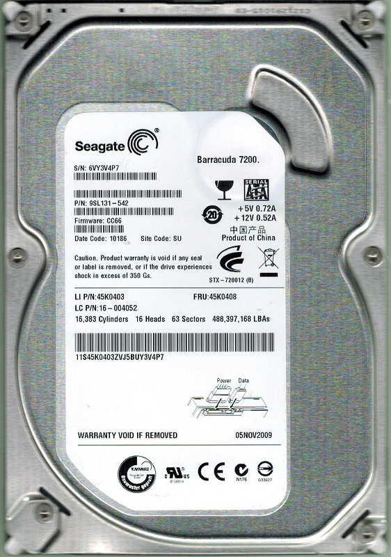 Жесткий диск (HDD) Seagate 160GB (ST3160215SCE) (7200RPM)