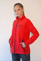 Женская спортивная толстовка Jack Wolfskin 1302251-688  красная код 066А