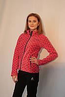 Женская спортивная толстовка Azimuth 2125 розово-серая код 071А
