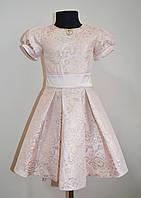 Детское праздничное платье для девочек цвета пудры, фото 1