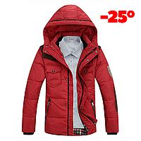 Мужская зимняя куртка пуховик JEEP в наличии! (JP_05), красный