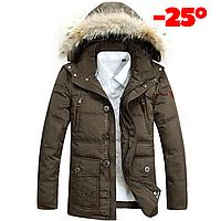 Мужская зимняя куртка парка пуховик JEEP, хаки! РАЗМЕР 46-50