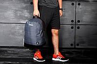 Серый повседневный мужской рюкзак рибок, Reebok реплика