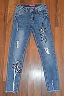 Весенние,Джинсовые брюки для девочек оптом, Размеры 116-146 см .Фирма GRACE.Венгрия, фото 1