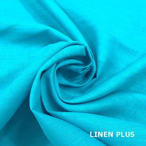 Льняная ткань бирюза, 100% лен, цвет 264
