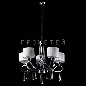 Классическая люстра с абажурами и элементами хрусталя. P13-1029/5/CH