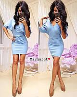"""Женское платье (голубой) """"Margaret""""  42-44 единый"""