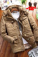 Мужская куртка парка Jeep В НАЛИЧИИ, Осень-Зима, песочный. Размер 48-52