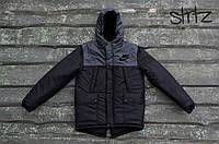 Мужской зимний пуховик/парка/куртка найки/Nike с капюшоном