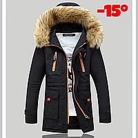 Мужская куртка парка ROUSEN в наличии, Осень-Зима, чёрный. Размер 46-50