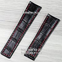Ремешок TAG Heuer кожаный black/red.