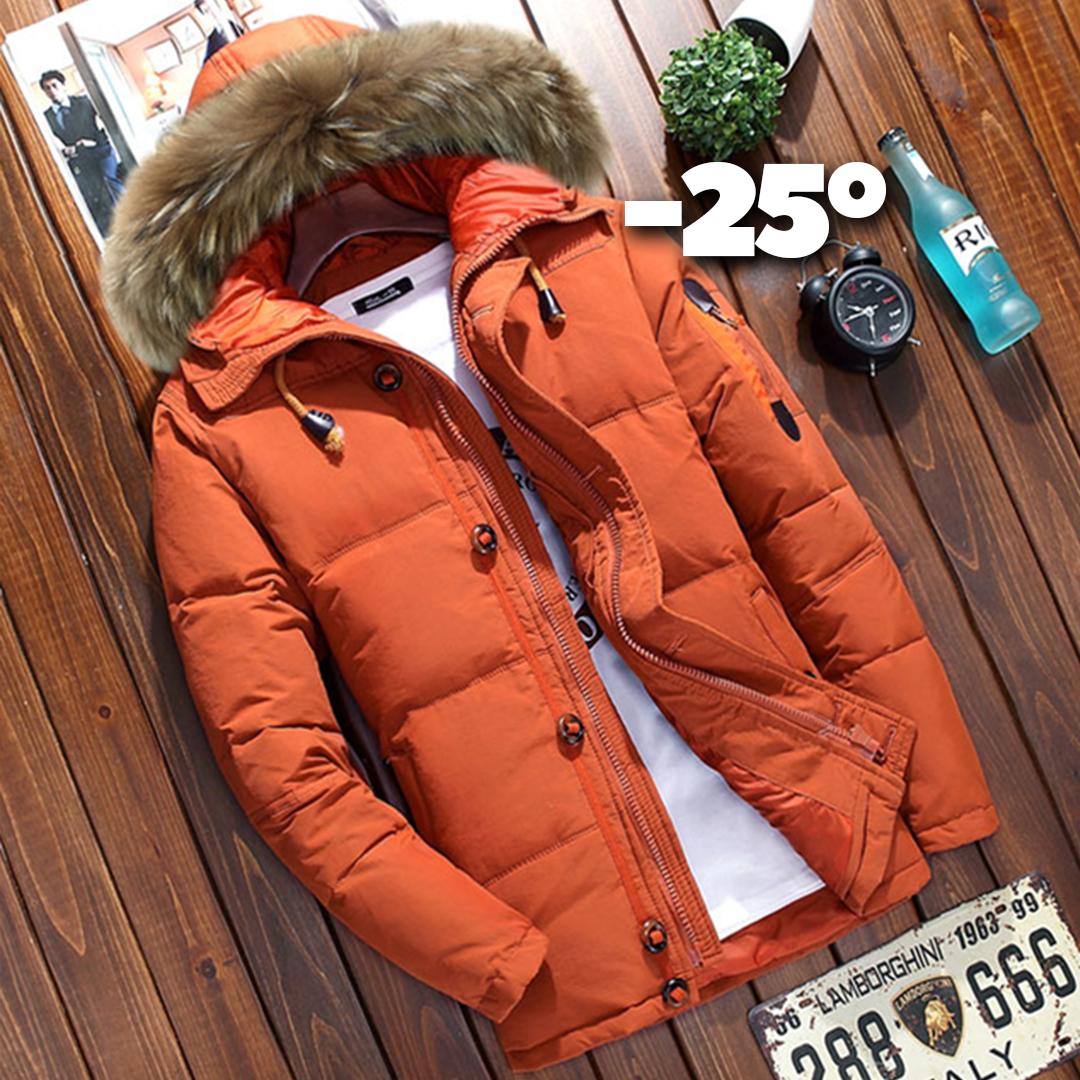ab2b0412 Купить Мужская зимняя куртка пуховик в наличии! (YD7_02), оранжевая ...