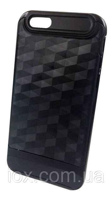 Рельефный комбинированный чехол-бампер для iPhone 7/8 Черный