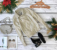 Красивая кожаная куртка SOM Star by с оригинальными стегаными элементами  OW49126