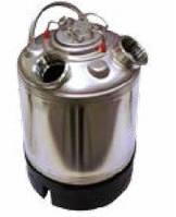 Емкость промывочная AEB, 9 л., н/ж. сталь, с двумя горловинами