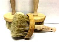 Кисть макловица круглая 100 мм деревянная с натуральным ворсом ворсом