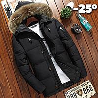 Мужская зимняя куртка пуховик JEEP в наличии! (YD7_01), черный. Размер 44-48