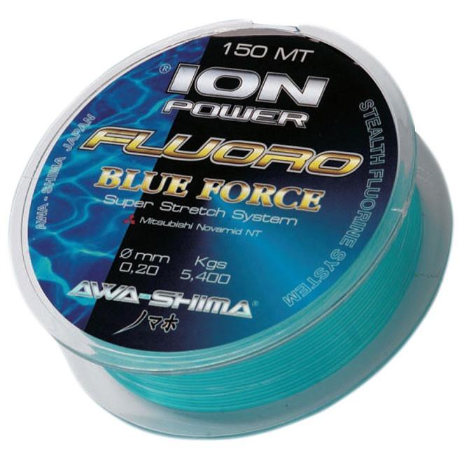 Леска Awa-Shima Ion Power Fluoro Blue Force 0.22mm 150m
