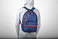 Синий городской рюкзак найк (Nike) реплика, фото 1