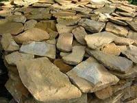 Дикий камень песчаник облицовочный толщиной 3см.
