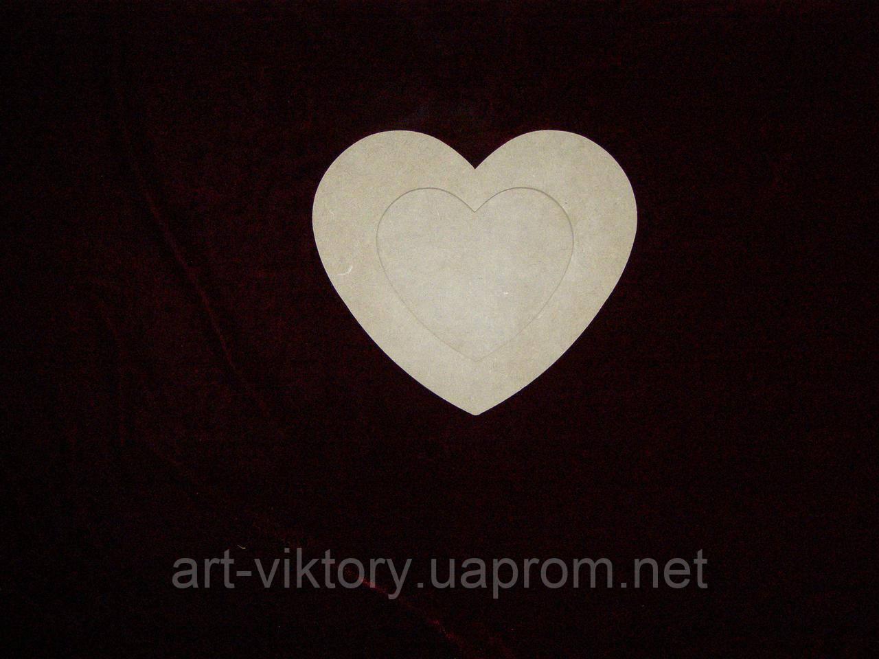Фоторамка сердце, декор (15 х 13 см)