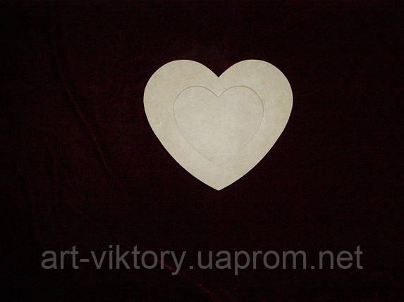 Фоторамка сердце, декор (15 х 13 см), фото 2