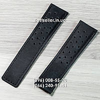 Ремешок TAG Heuer Space X кожаный black .