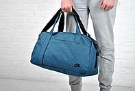 Синяя Сумка найк спортивная (Nike), текстильная реплика, фото 1