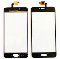 Оригинальный тачскрин / сенсор (сенсорное стекло) для Meizu M5s (черный цвет)