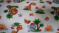 Ткань фланель детская для пеленок ш.180 см Жирафики