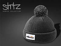 Модная зимняя шапка с помпоном/бубоном ellesse реплика, фото 1