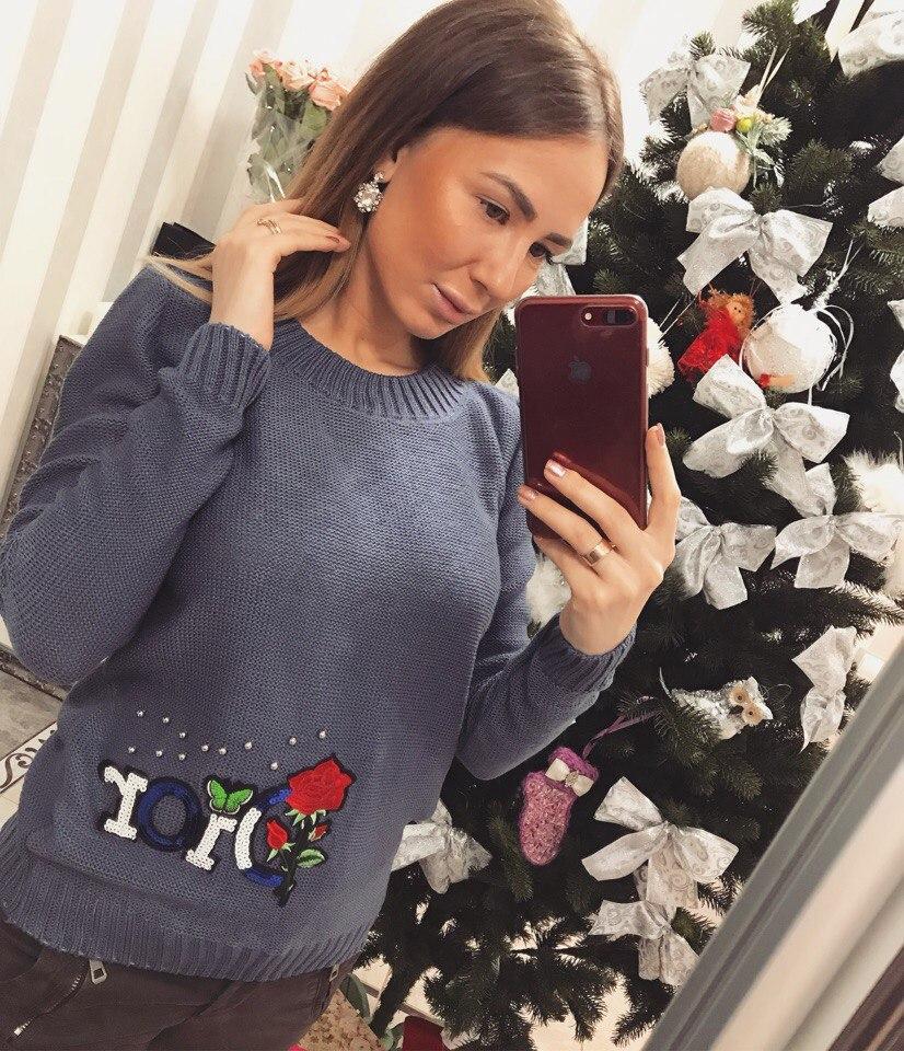Модный женский свитер Dior реплика