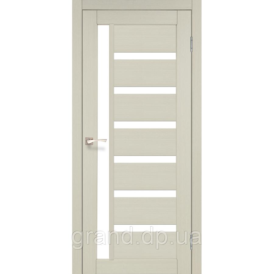 Двери межкомнатные  Корфад VALENTINO Модель: VL-01 дуб беленый с матвым стеклом