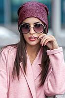 Жіноча шапка-панчоха з ангори, фото 1