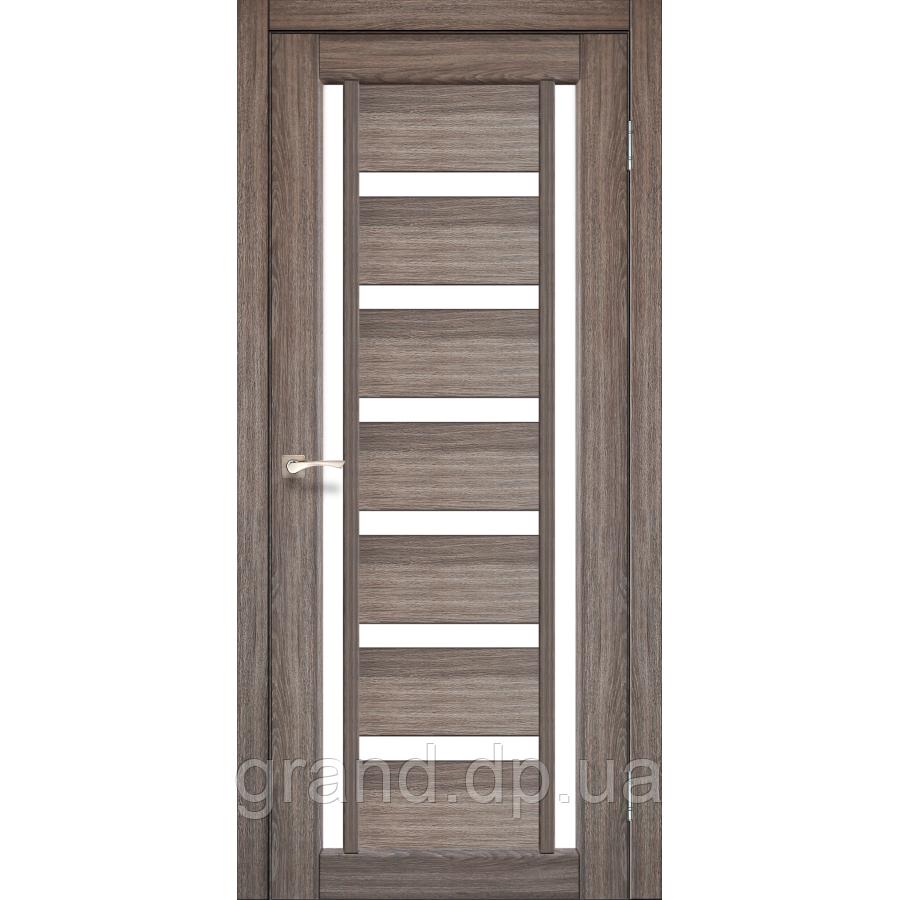 Двери межкомнатные Корфад VALENTINO Модель: VL-02 дуб грей с матовым стеклом