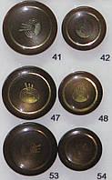 Пуговица пальтовая и шубная на потайной ножке диаметр 28 мм и 23 мм