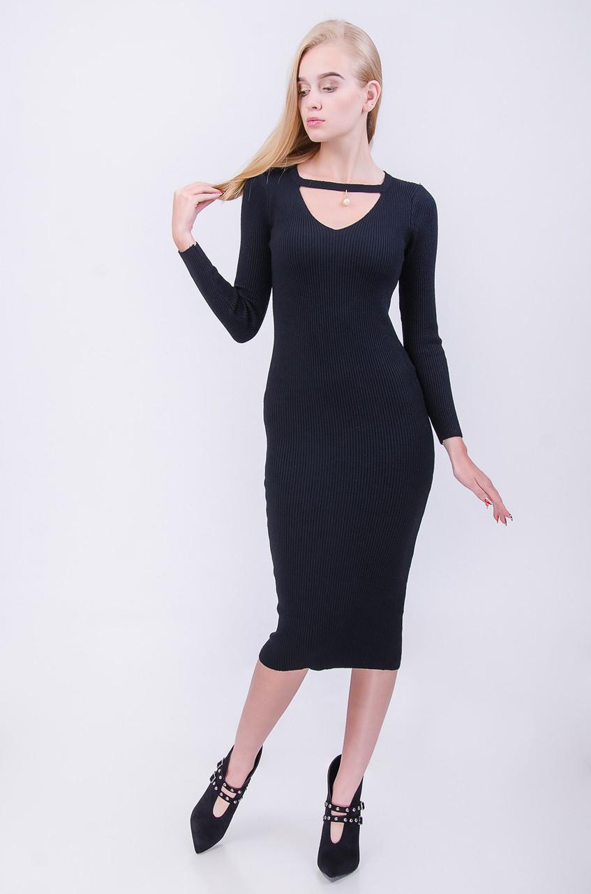 Стильное удлиненное платье