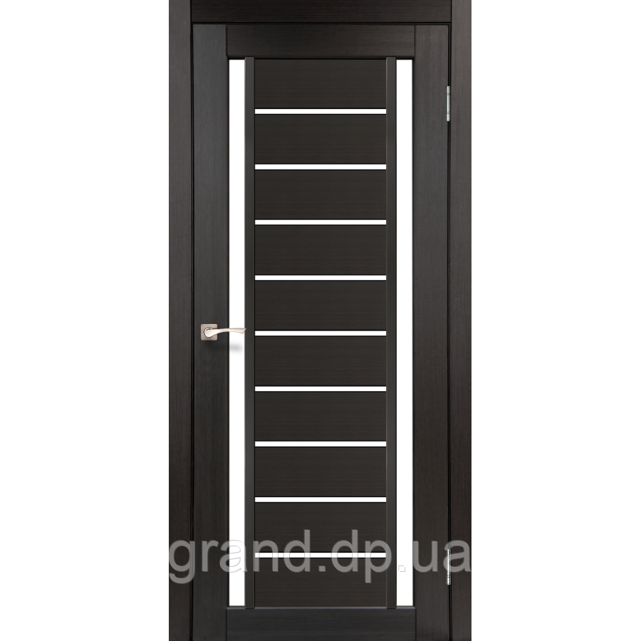 Двери межкомнатные  Корфад VALENTINO Модель: VL-03 венге с матовым стеклом