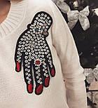 """Женский стильный свитер/джемпер с украшением """"Рука"""" (3 цвета), фото 2"""