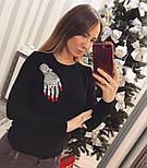 """Женский стильный свитер/джемпер с украшением """"Рука"""" (3 цвета), фото 4"""