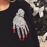 """Женский стильный свитер/джемпер с украшением """"Рука"""" (3 цвета), фото 5"""