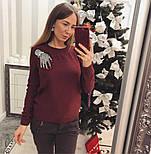 """Женский стильный свитер/джемпер с украшением """"Рука"""" (3 цвета), фото 6"""