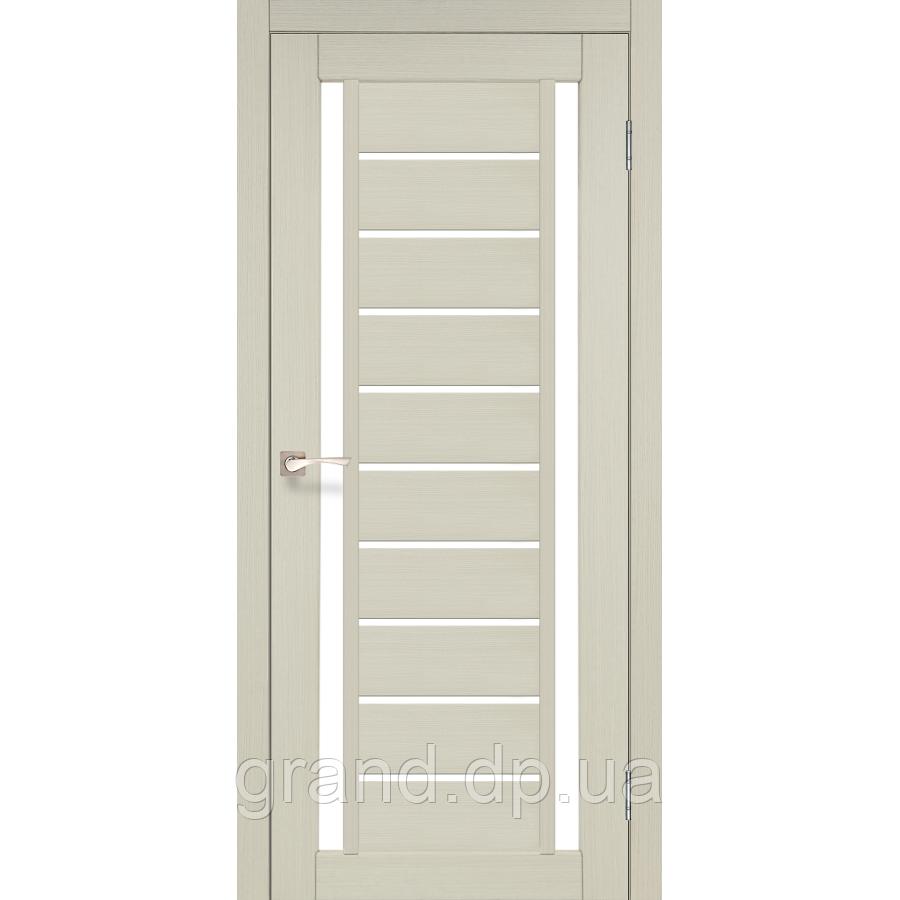 Двери межкомнатные  Корфад VALENTINO Модель: VL-03 дуб беленый с матовым стеклом