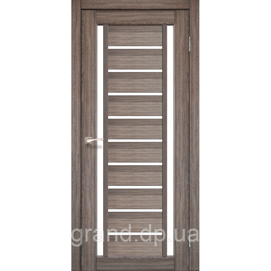 Двери межкомнатные  Корфад VALENTINO Модель: VL-03 дуб грей с матовым стеклом
