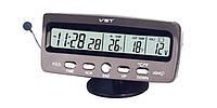 Часы автомобильные термометр вольтметр VST - 7045V