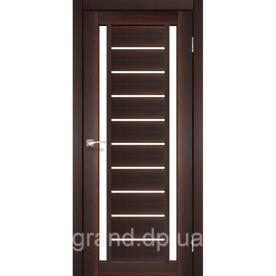 Двери межкомнатные  Корфад VALENTINO Модель: VL-03 орех с матовым стеклом
